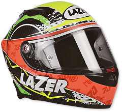 Lazer Osprey Laverty Carbon - Yellow-Red-Green